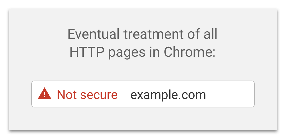 So könnte laut Google eine unsichere Verbindung markiert werden.