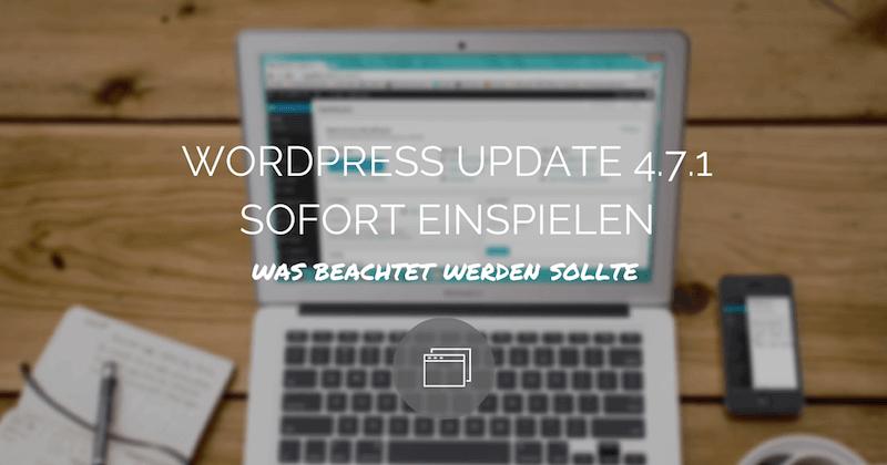 Wordpress updates ist ein Muss um sicher zu sein.