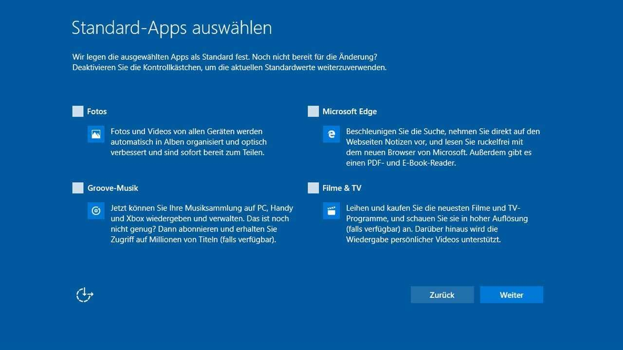 Windows 10 Creators Update deaktiviert