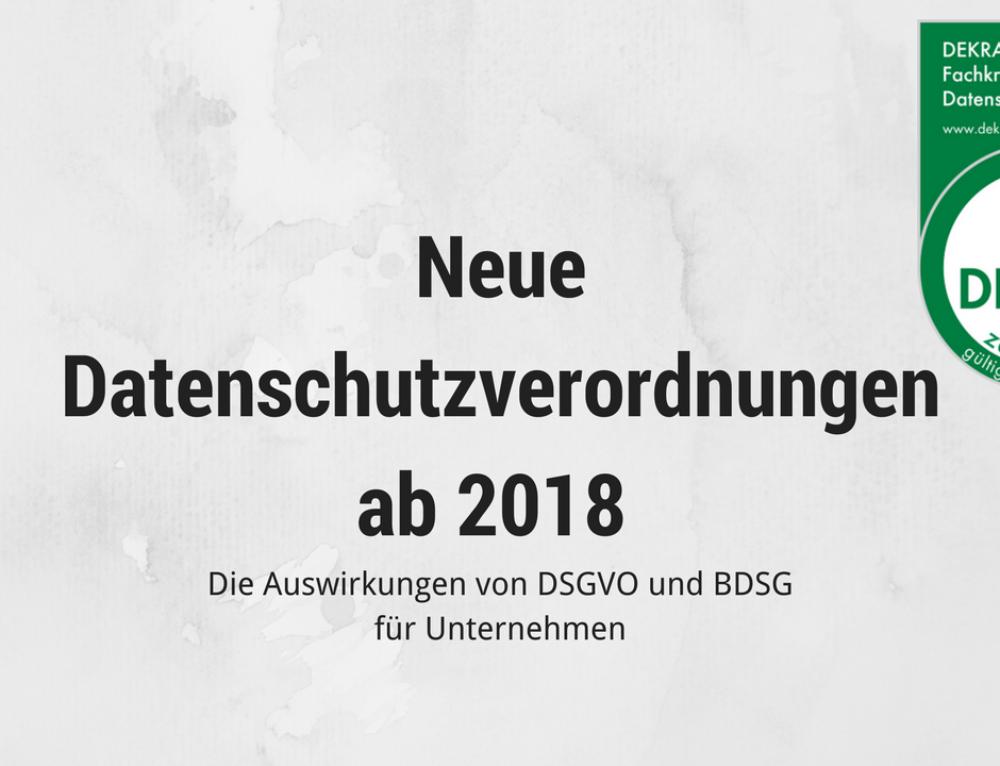Datenschutzgesetze 2018 – Auf die DSGVO vorbereitet?