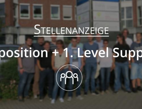 Wir suchen dich – Stellenanzeige als Disponent und 1. Level Support