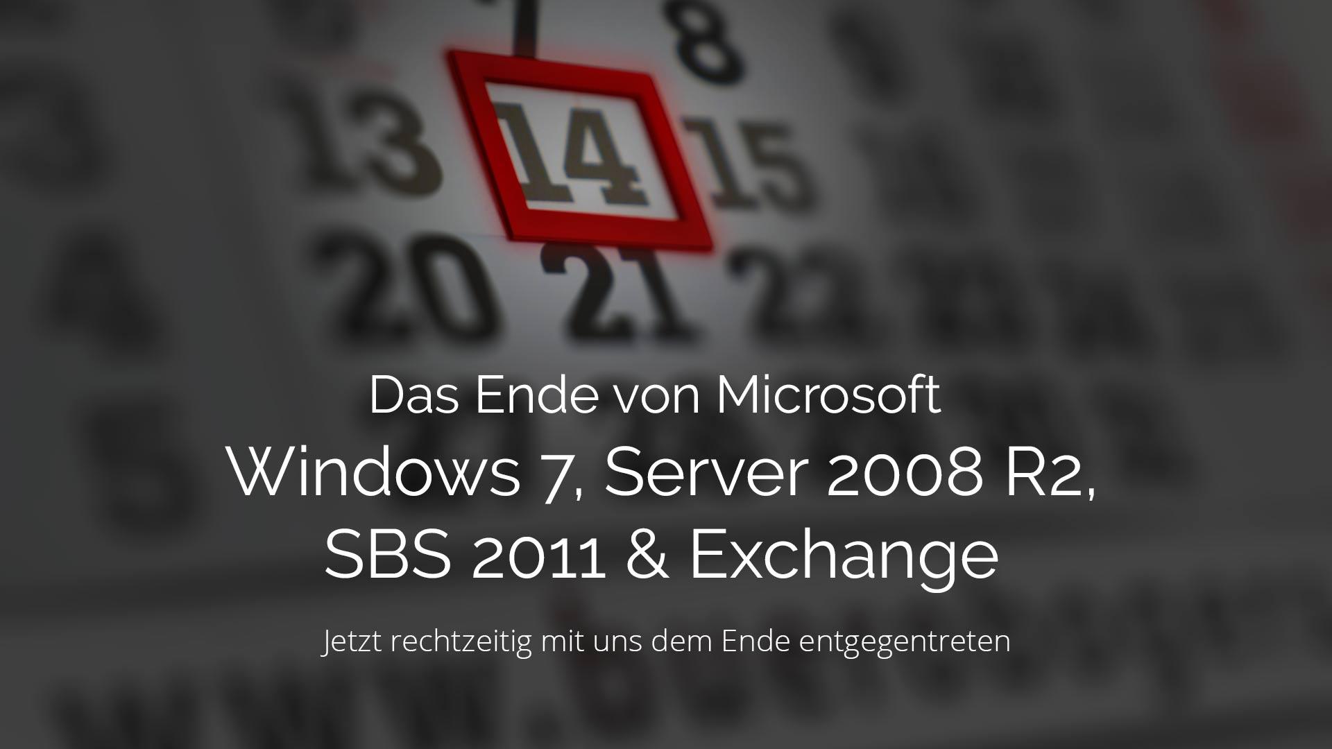 Das Ende von Microsoft Produkten