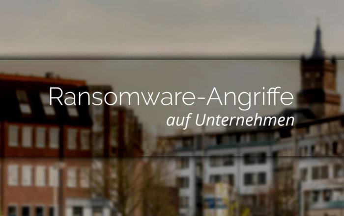 Warnung von Ransomware-Angriffe